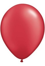 "11"" Pearl Ruby Red Qualatex Latex Balloon 1 Dozen Flat"