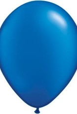 "11"" Pearl Sapphire Blue Qualatex Balloon 1 Dozen Flat"