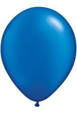 "11"" Pearl Sapphire Blue Qualatex Latex Balloon 1 Dozen Flat"