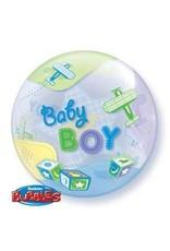 "Baby Boy Airplanes 22"" Bubble Balloon"