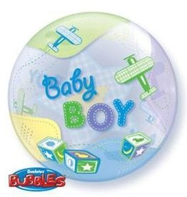 "Baby Boy Airplanes 22"" Bubble Balloon"