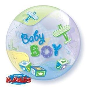 "Bubble 22"" Baby Boy Airplanes Balloon"
