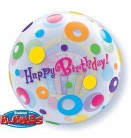 "Birthday Cupcakes and Dots 22"" Bubble Balloon"