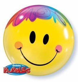 "Bubble 22"" Happy Face Balloon"