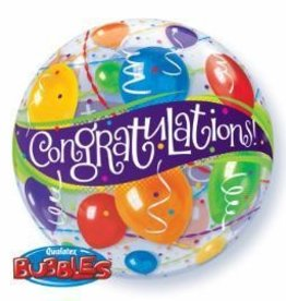 """Bubble 22"""" Congratulations Balloon"""