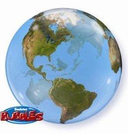 """Bubble 16"""" Earth Orbz Balloon"""