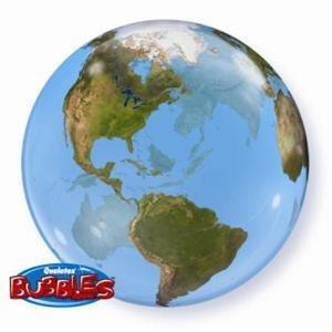 """Earth Orbz 16"""" Bubble Balloon"""