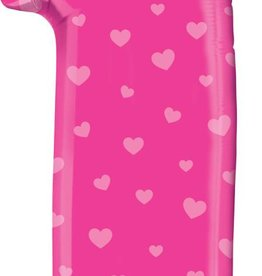 Pink #1 Number Shape Mylar Balloon
