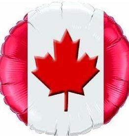 """Canada Maple Leaf 18"""" Mylar Balloon"""