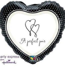 "A Perfect Pair 18"" Mylar Balloon"