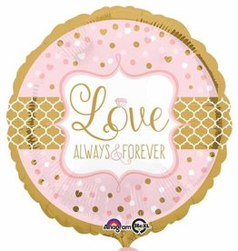 "Always & Forever 18"" Mylar Balloon"