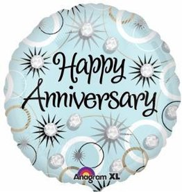 "Anniversary Diamond 18"" Mylar Balloon"