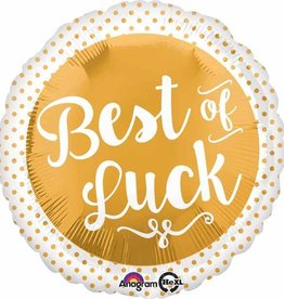 "Best Of Luck Gold 18"" Mylar Balloon"