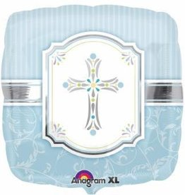 "Communion Blessings Blue 18"" Mylar Balloon"