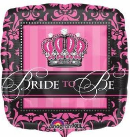 """Crowned Bride To Be 18"""" Mylar Balloon"""