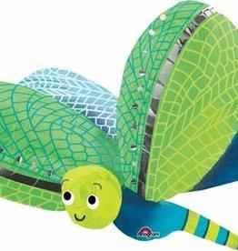 "Cute Dragonfly Supershape 40"" Mylar Balloon"