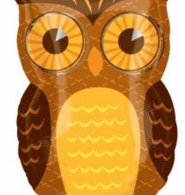 Fall Owl Shape Mylar Balloon