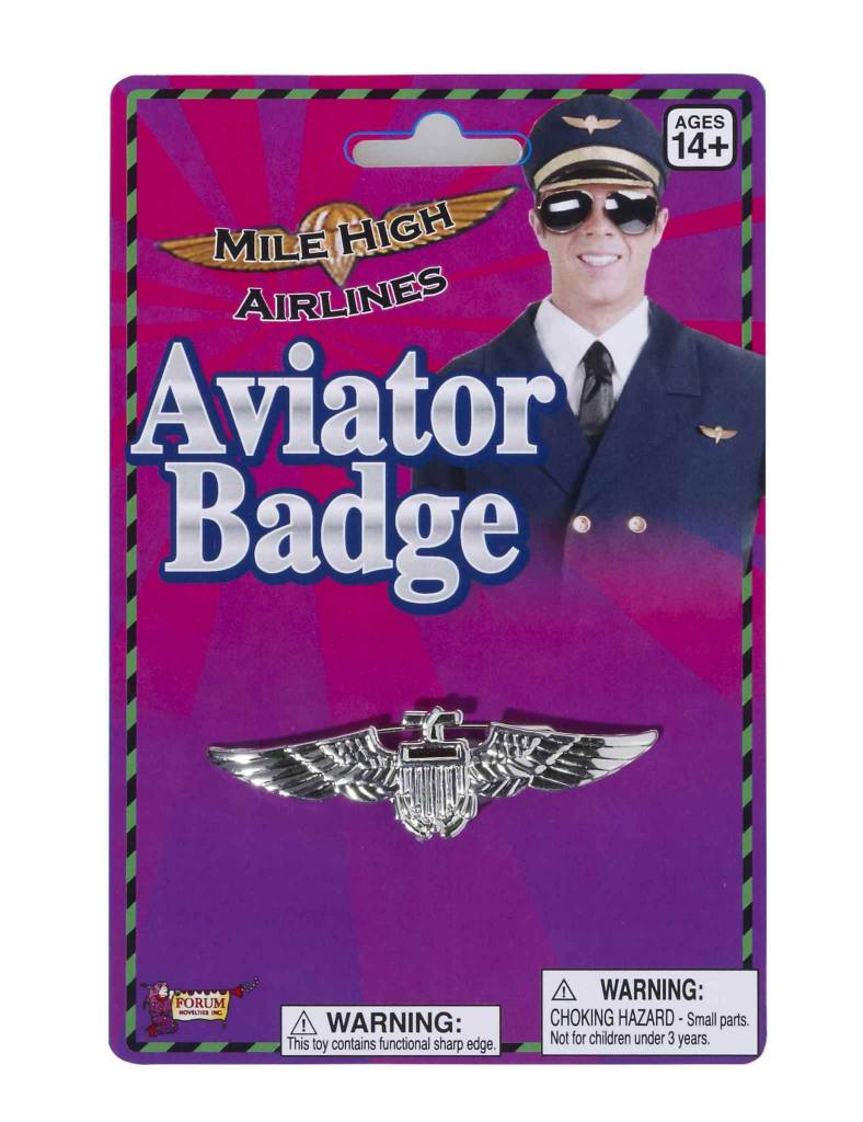 Aviator Badge Silver