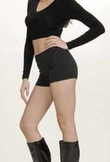 Black Hot Shorts Medium (8-10)