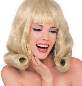 60's Flip Blonde Wig