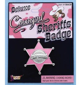 Cowgirl Sheriff Badge