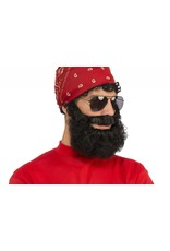 Curly Brown Beard W/Moustache