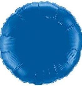 Mylar Dark Blue Round 18'' Balloon
