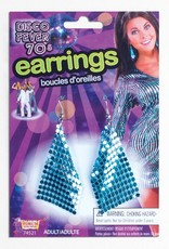 Disco Drop Earrings Blue