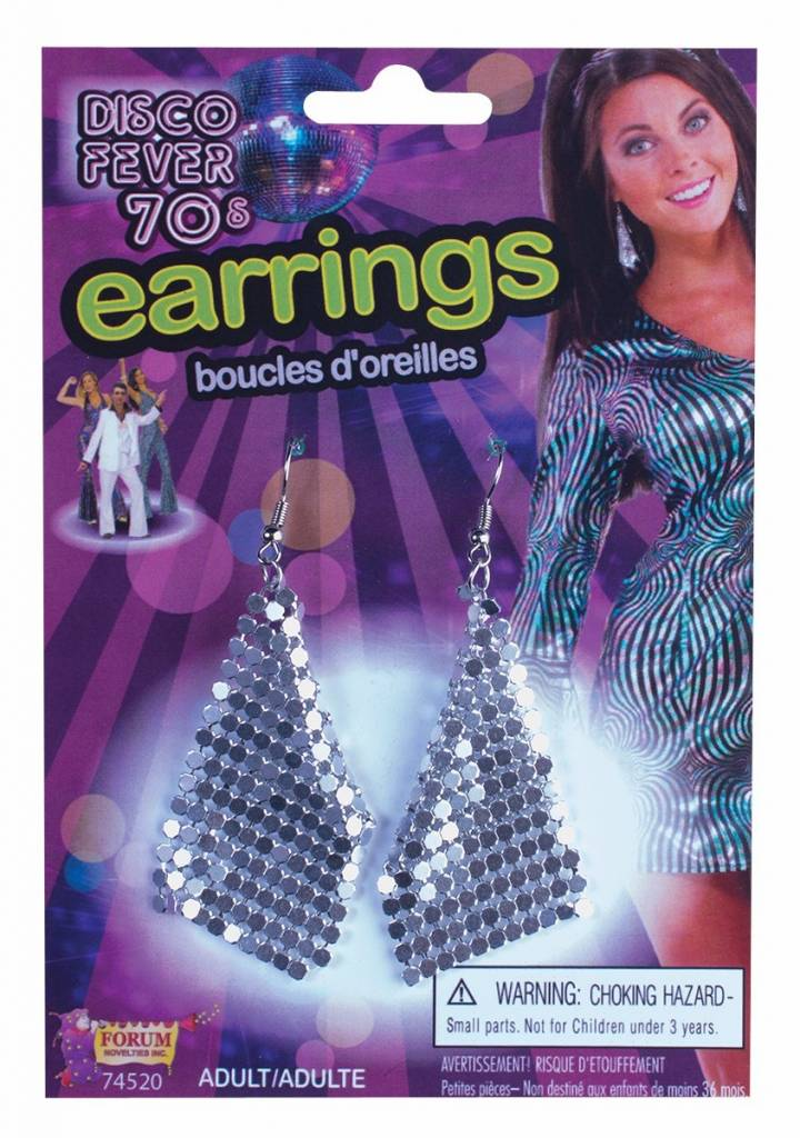 Disco Drop Earring Silver