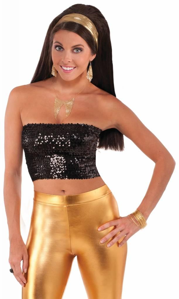 Disco Lame Gold Headwrap