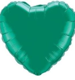 Mylar Emerald Green Heart 18'' Balloon