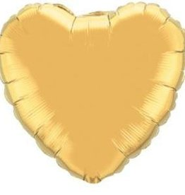 "Mylar Gold Heart 18"" Balloon"