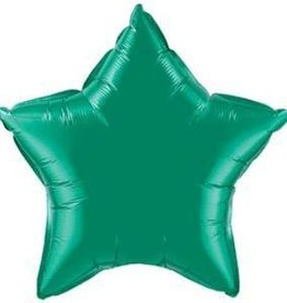 """Mylar Emerald Green Star 20"""" Balloon"""
