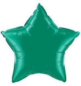 """Emerald Green Star 20"""" Mylar Balloon"""