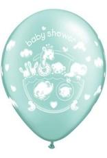 """11"""" Printed Adorable Baby Shower Balloon 1 Dozen Flat"""
