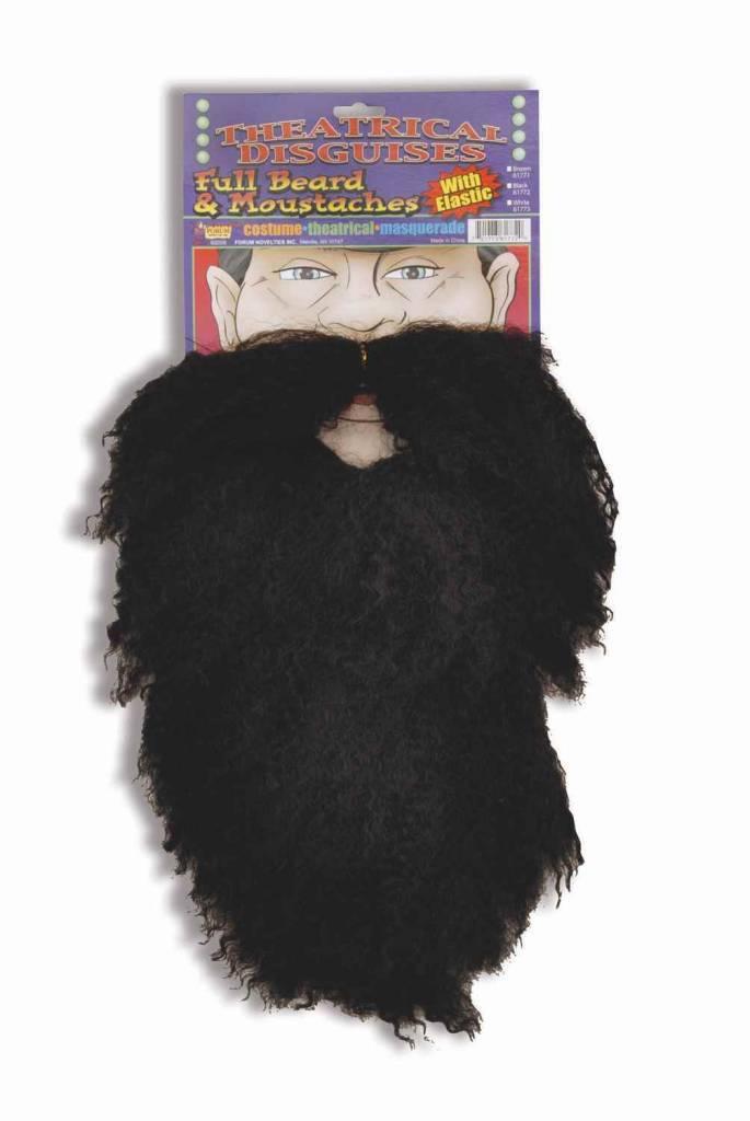 Black Full Beard and Moustache