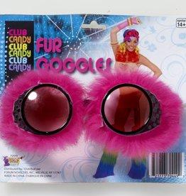 Fur Goggles Pink