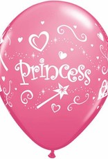 "11"" Printed Special Princess Balloon 1 Dozen Flat"