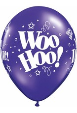 "11"" Jewel Woo Hoo! You Did It! Balloon Uninflated"