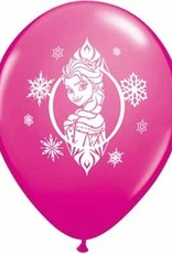 "11"" Printed Frozen Balloon 1 Dozen Flat"