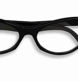 Black 50's Rhinestone Glasses