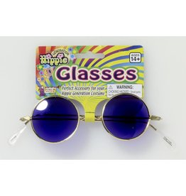 Blue Hippie Glasses