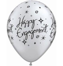 "11"" Engagement Elegant Sparkle Balloon Uninflated"