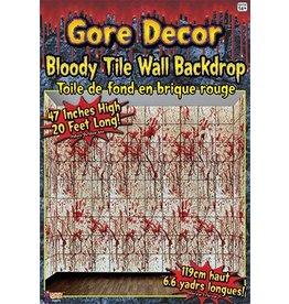 Bloody Tile Wall Backdrop