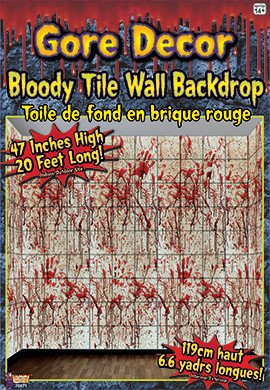 Bloody Tile Wall Backdrop