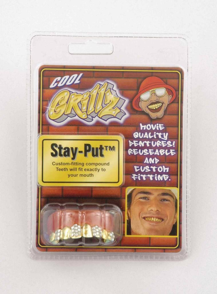 Grillz Teeth Gold with Rhinestone