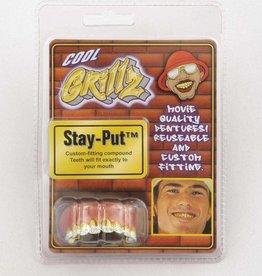 Grillz Tetth Gold with Diamond Tip