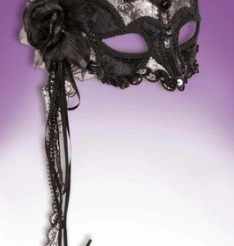 Venetian Mask Black With Lace