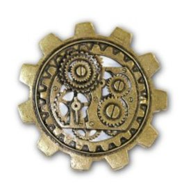 Steampunk Bronze Brooch