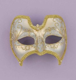 Venetian Gold and White Mask